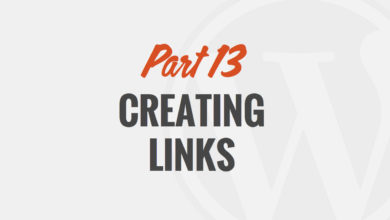 How to Create a Link in WordPress