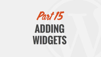 How to Add a Widget in WordPress