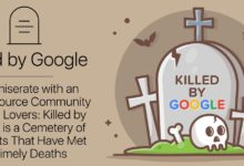 Commiserate with an Open-Source Community of Tech Lovers: Killed by Google is a Cemetery of Products That Have Met Untimely Deaths