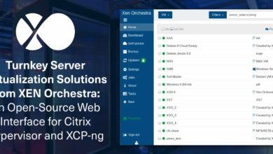 Turnkey Server Virtualization Solutions from Xen Orchestra: An Open-Source Web Interface for Citrix Hypervisor and XCP-ng