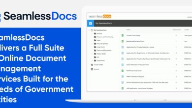 SeamlessDocs Delivers a Full Suite of Online Document Management Services Built for the Needs of Government Entities